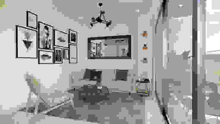 Diseño y decoración Sala. Salas modernas de DIKTURE Arquitectura + Diseño Interior Moderno Madera Acabado en madera