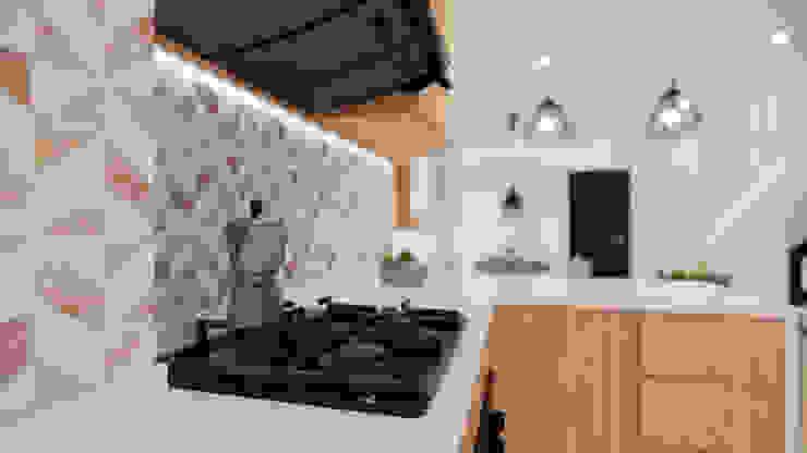 Diseño Mobiliario y decoración Cocina. Cocinas modernas de DIKTURE Arquitectura + Diseño Interior Moderno Cuarzo