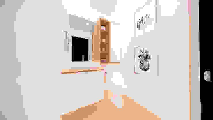 Diseño Mobiliario y decoración Baño Social. Baños de estilo moderno de DIKTURE Arquitectura + Diseño Interior Moderno Madera Acabado en madera