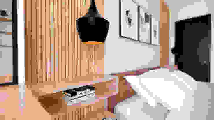 Diseño Mobiliario y decoración Alcoba Principal. de DIKTURE Arquitectura + Diseño Interior Moderno Madera Acabado en madera