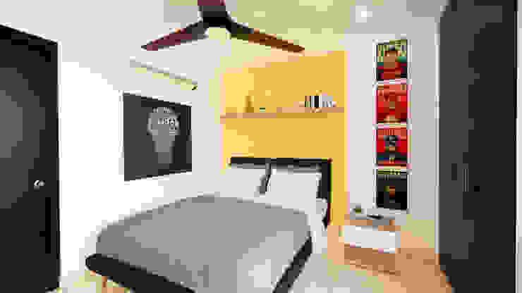 Diseño Mobiliario y decoración Alcoba 2. de DIKTURE Arquitectura + Diseño Interior Moderno Madera Acabado en madera