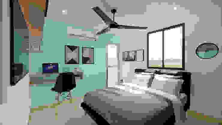 Diseño Mobiliario y decoración Alcoba 3. de DIKTURE Arquitectura + Diseño Interior Moderno Madera Acabado en madera