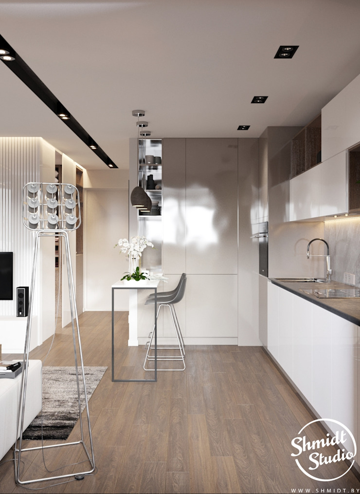 Project <q>Mini</q>, Minsk Shmidt Studio Modern Kitchen