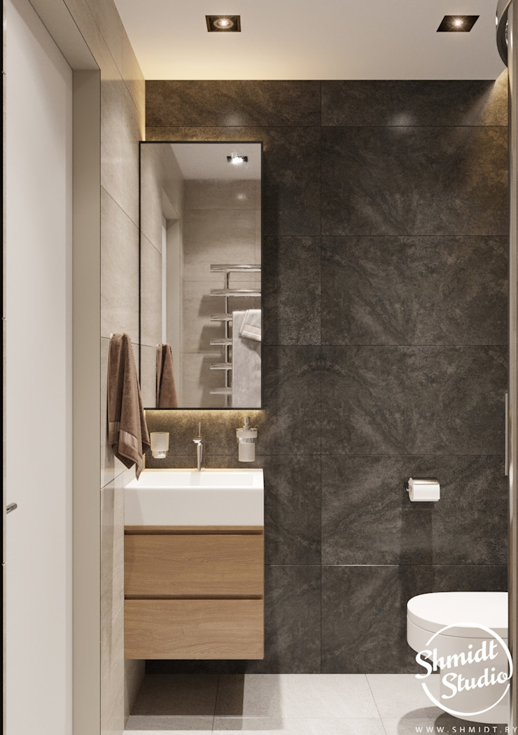 Project <q>Mini</q>, Minsk Shmidt Studio Modern Bathroom