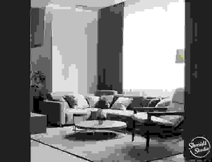 """Project """"Black"""", Minsk Shmidt Studio Modern Living Room"""