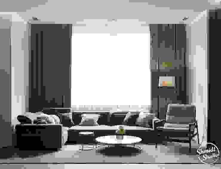 Project <q>Black</q>, Minsk Shmidt Studio Modern Living Room