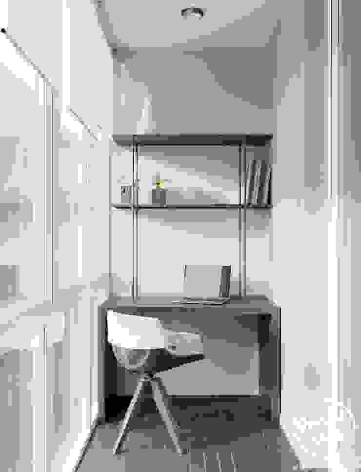 Project <q>Black</q>, Minsk Shmidt Studio Modern Study Room and Home Office