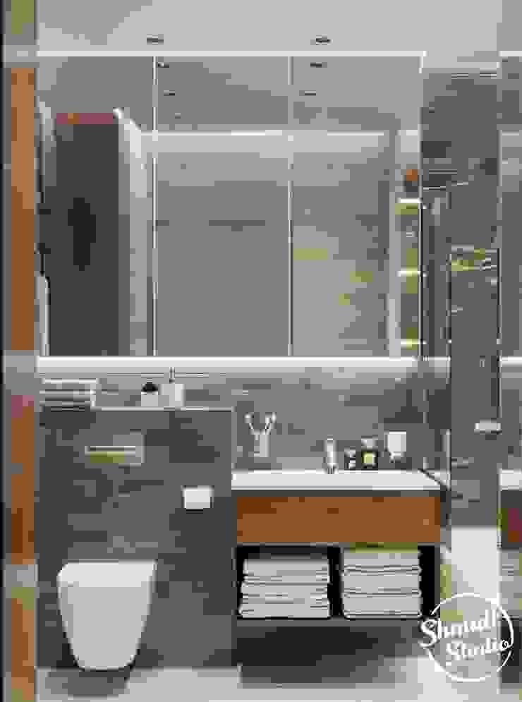 Project <q>Black</q>, Minsk Shmidt Studio Modern Bathroom