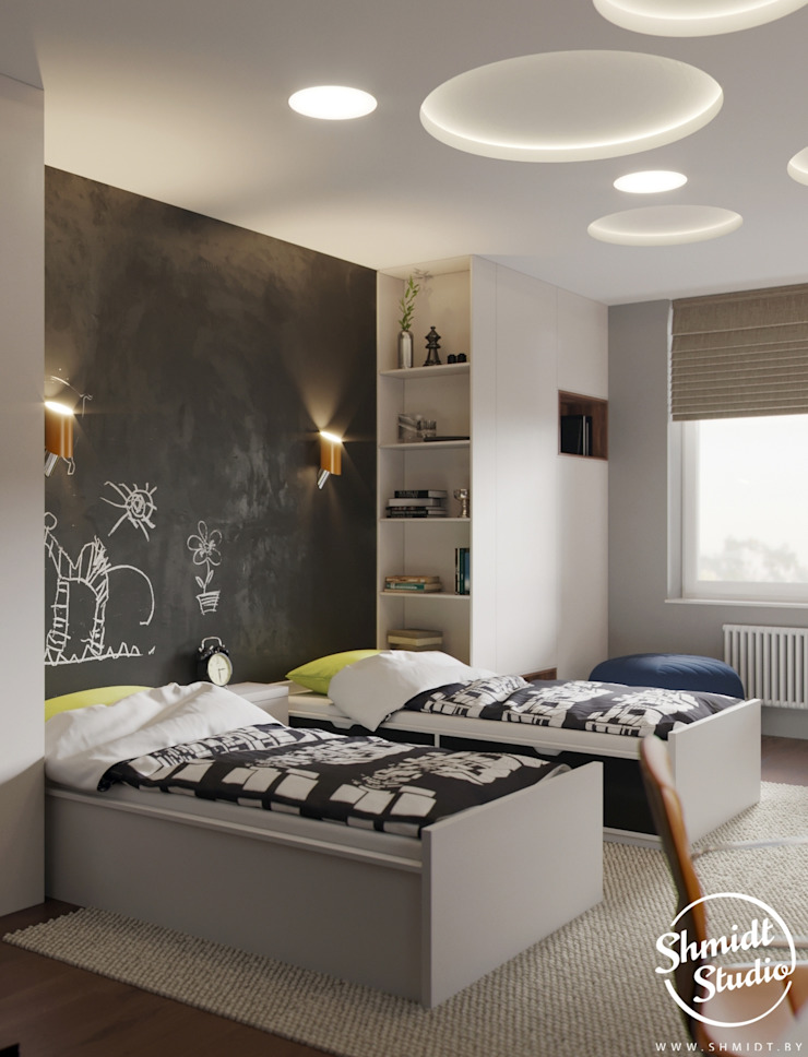 Project <q>Black</q>, Minsk Shmidt Studio Modern Kid's Room