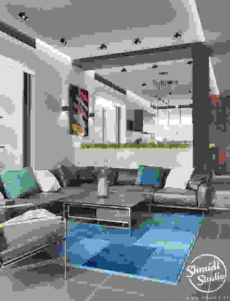 Project <q>Attractive</q>, Minsk Shmidt Studio Modern Living Room