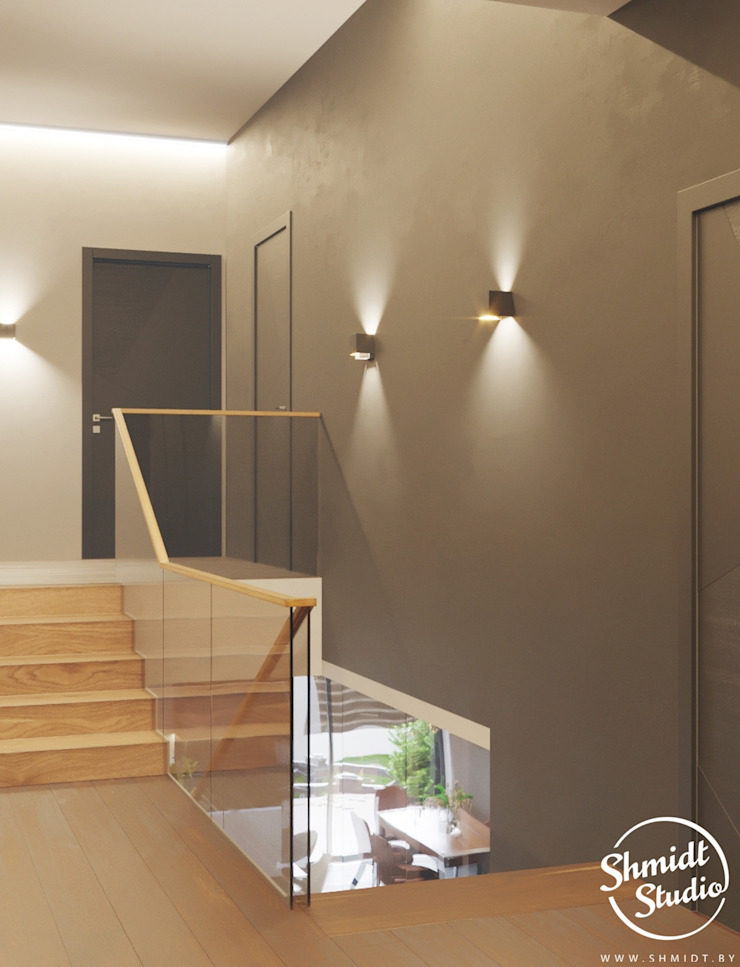 Project <q>Attractive</q>, Minsk Shmidt Studio Modern Corridor, Hallway and Staircase