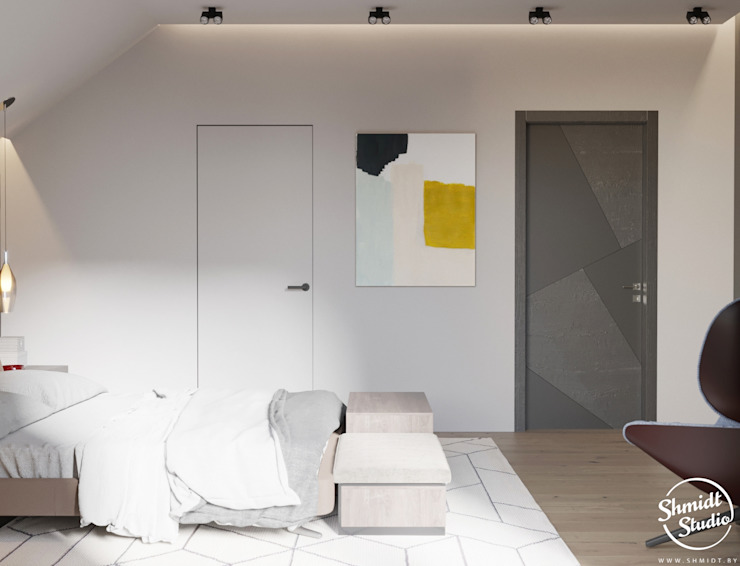 Project <q>Attractive</q>, Minsk Shmidt Studio Modern Bedroom