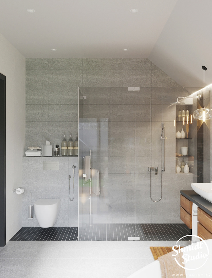 Project <q>Attractive</q>, Minsk Shmidt Studio Modern Bathroom