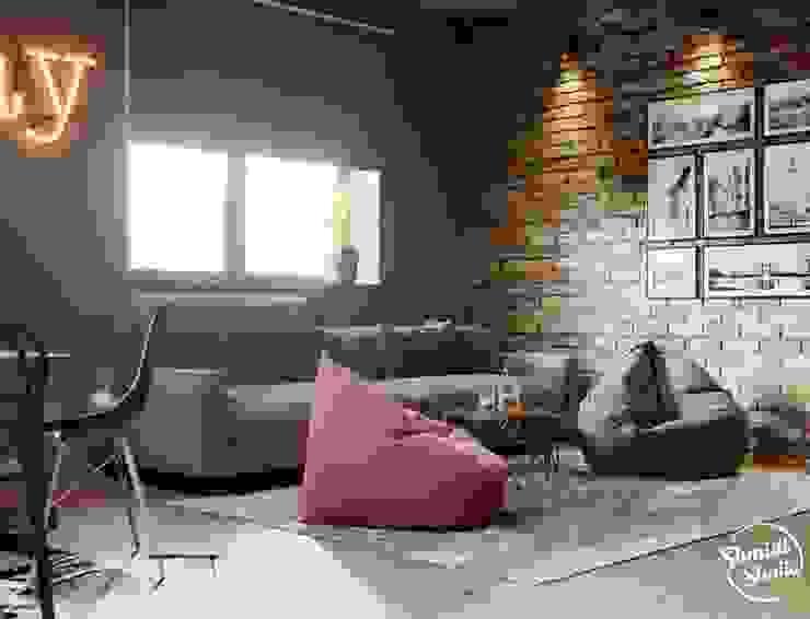 Project <q>Attractive</q>, Minsk Shmidt Studio Modern Media Room
