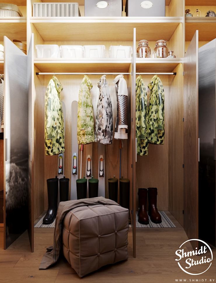 Project <q>Attractive</q>, Minsk Shmidt Studio Modern Dressing Room
