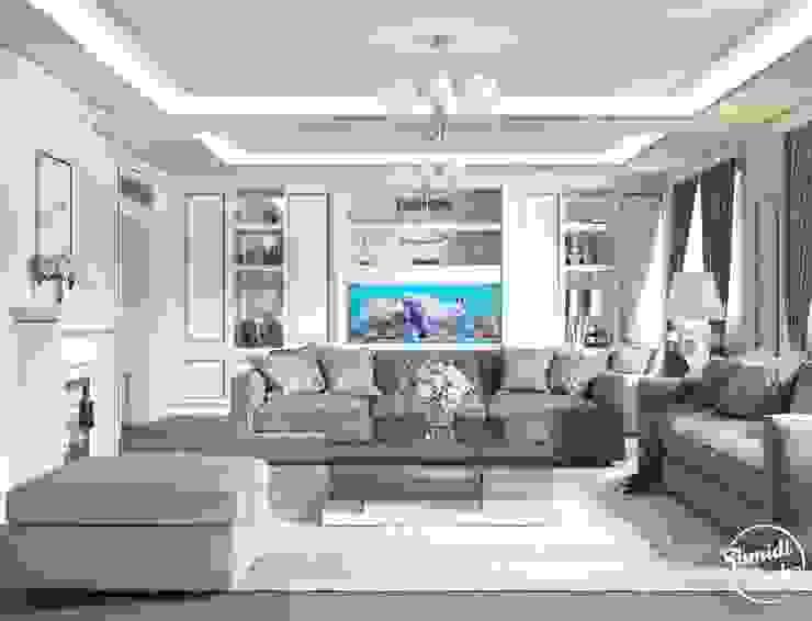 """Project """"Decent"""", Minsk Shmidt Studio Modern Living Room"""
