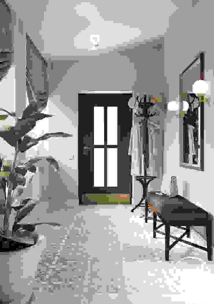 Project <q>Decent</q>, Minsk Shmidt Studio Modern Corridor, Hallway and Staircase