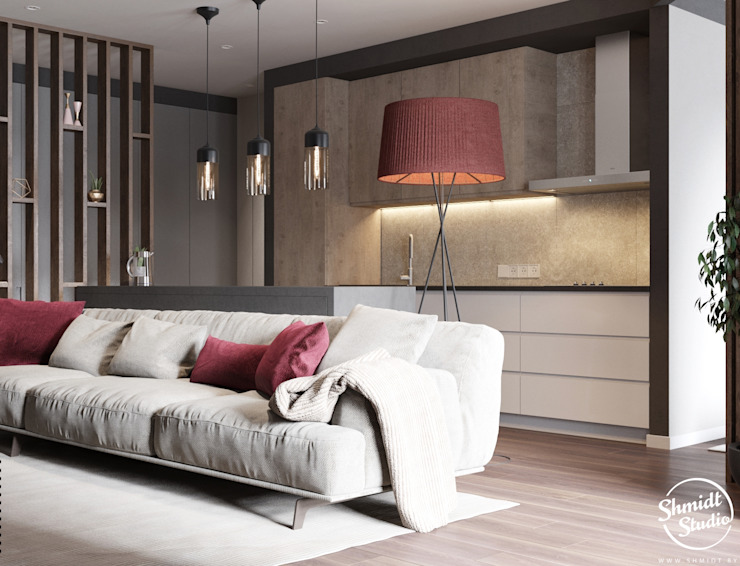 Project <q>Frank</q>, Minsk Shmidt Studio Modern Living Room