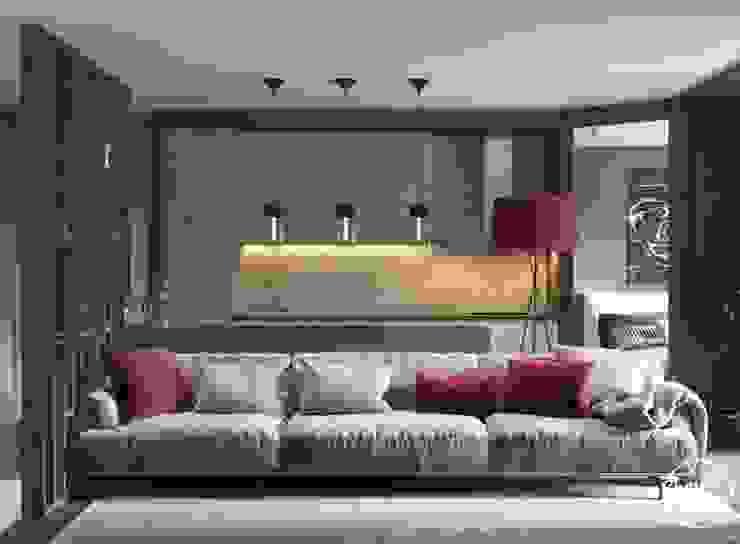 """Project """"Frank"""", Minsk Shmidt Studio Modern Living Room"""