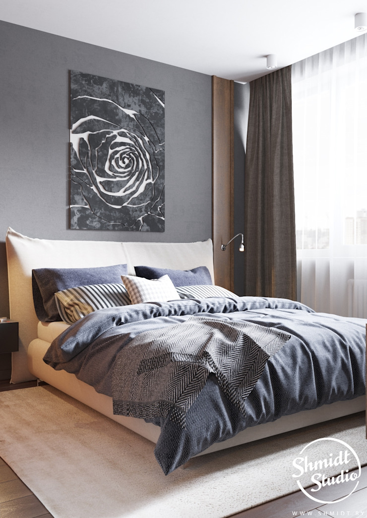 Project <q>Frank</q>, Minsk Shmidt Studio Modern Bedroom