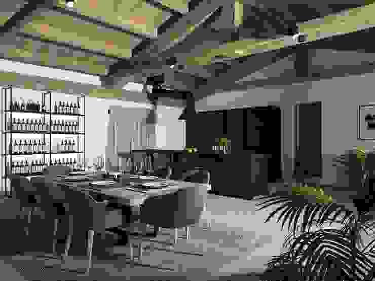 TUSCAN COUNTRYSIDE - Joe Garzone IN 26 DESIGN Cucina in stile rustico Legno