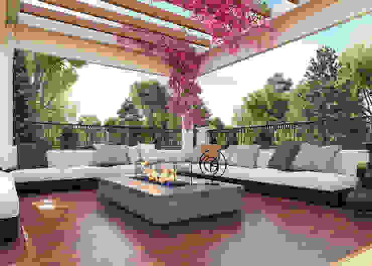 Zeray İnşaat A.Ş. Balkon, Beranda & Teras Gaya Mediteran