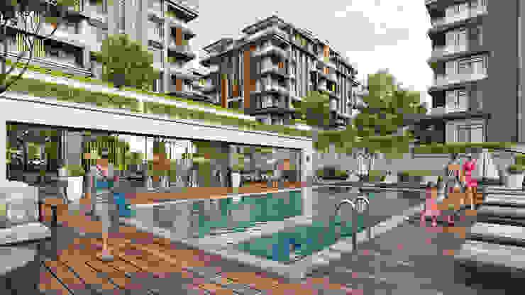 Zeray Koru Park Zeray İnşaat A.Ş. Garden Pool