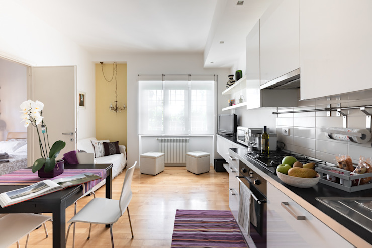 Conteduca Panella architetti Living room Purple/Violet