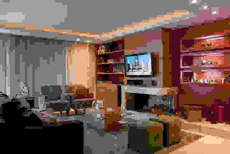 arquiteta aclaene de mello Country style living room OSB Black