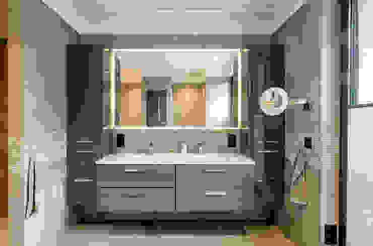 Bathroom CONSCIOUS DESIGN - INTERIORS Modern style bathrooms Tiles Beige