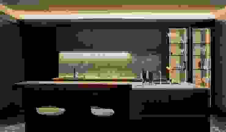 新莊九五大樓 現代廚房設計點子、靈感&圖片 根據 大器聯合室內設計有限公司 現代風