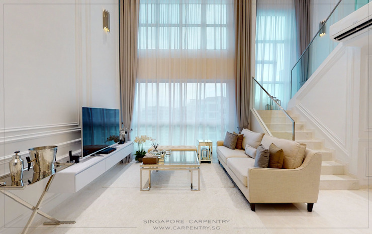 The Best of Modern Classical Design Classic style living room by Singapore Carpentry Interior Design Pte Ltd Classic Marble