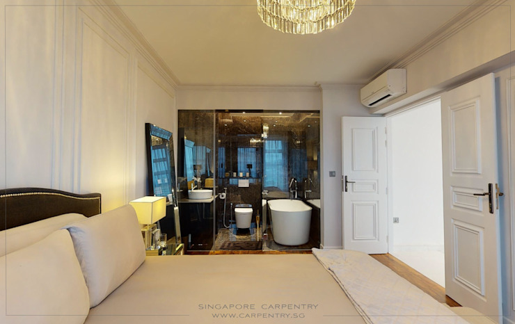 The Best of Modern Classical Design Classic style bedroom by Singapore Carpentry Interior Design Pte Ltd Classic Marble
