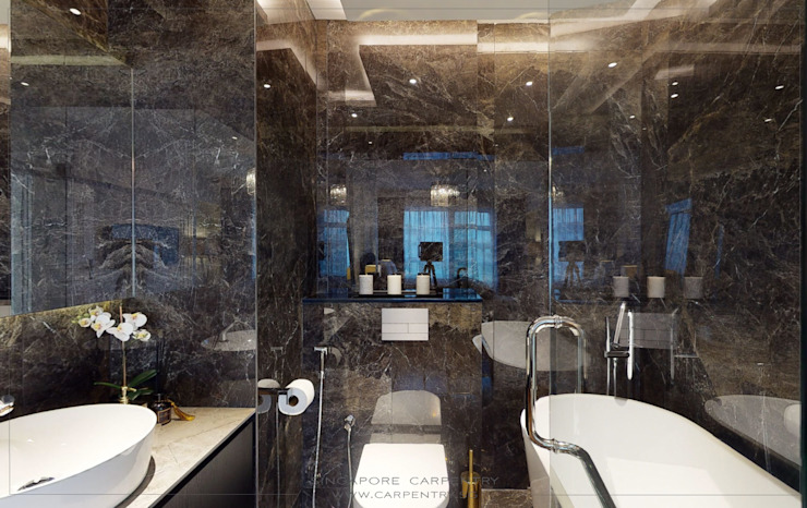 The Best of Modern Classical Design Classic style bathroom by Singapore Carpentry Interior Design Pte Ltd Classic Marble