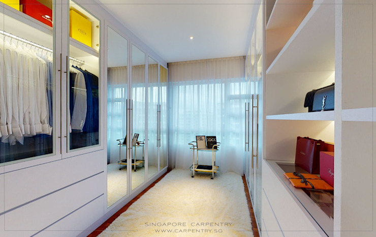 The Best of Modern Classical Design Classic style dressing room by Singapore Carpentry Interior Design Pte Ltd Classic Wood Wood effect