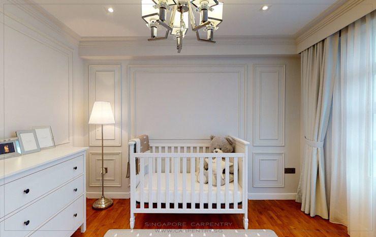 The Best of Modern Classical Design by Singapore Carpentry Interior Design Pte Ltd Classic Wood Wood effect