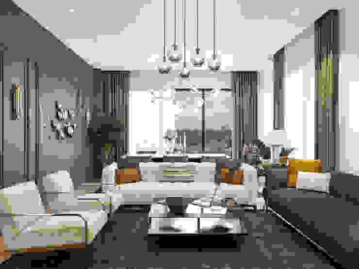 DARICA EV TASARIM PROJESİ Modern Oturma Odası ArchSia Modern İşlenmiş Ahşap Şeffaf