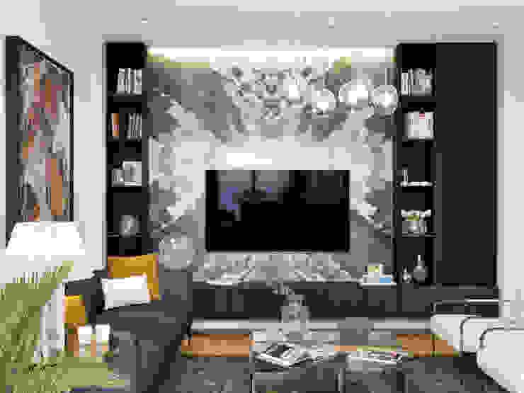 DARICA EV TASARIM PROJESİ Modern Oturma Odası ArchSia Modern Mermer