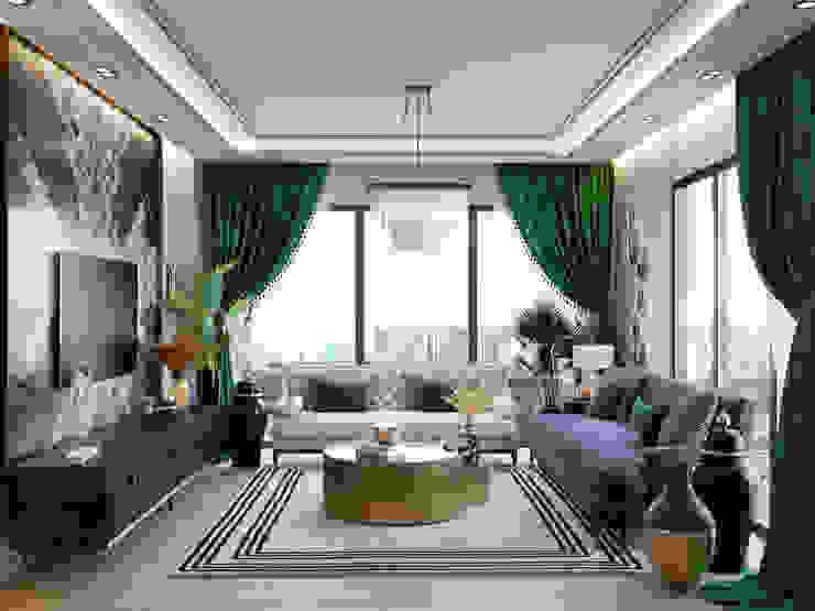 DARICA EV TASARIM PROJESİ Modern Oturma Odası ArchSia Modern Bakır/Bronz/Pirinç