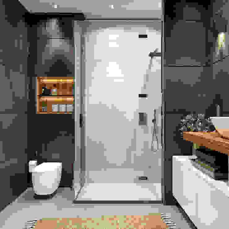 DARICA EV TASARIM PROJESİ ArchSia Modern Banyo Mermer Siyah