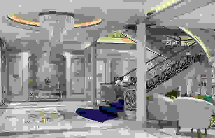 قاعة المدخل الرئيسية لفيلا فخمة راهرو سبک کلاسیک، راهرو و پله من Algedra Interior Design كلاسيكي