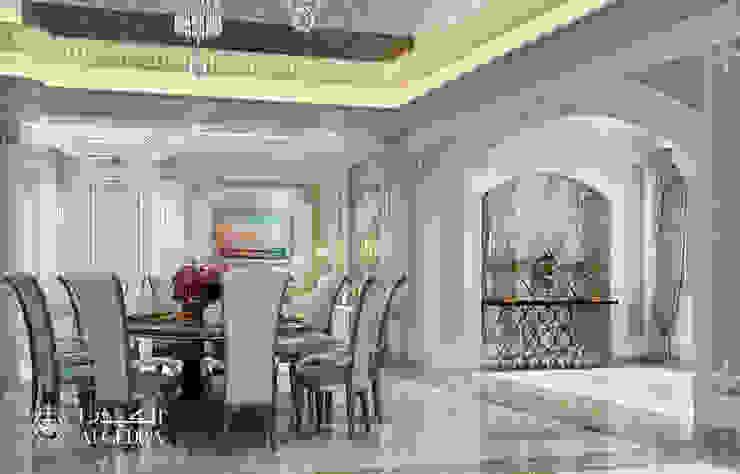 منطقة تناول الطعام في فيلا فخمة على الطراز الكلاسيكي من Algedra Interior Design كلاسيكي