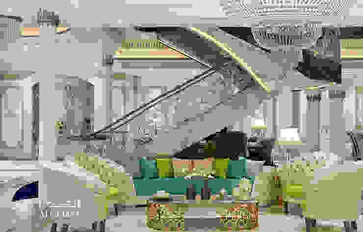 تصميم مساحة الجلوس في فيلا فخمة من Algedra Interior Design كلاسيكي