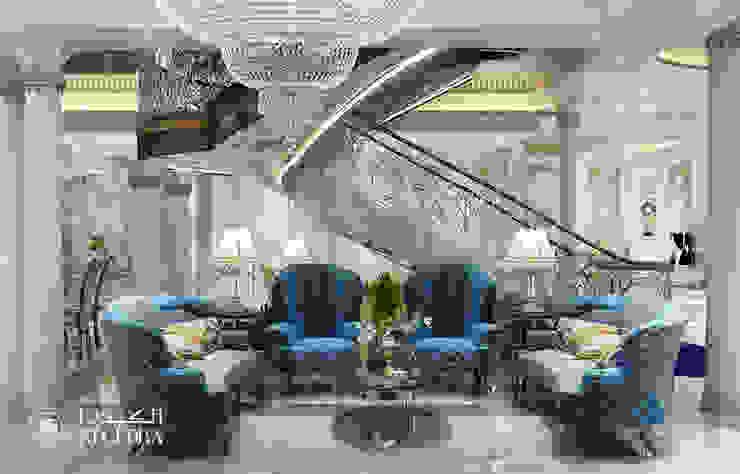 منطقة ردهة فى فيلا فاخرة على الطراز الكلاسيكى من Algedra Interior Design كلاسيكي