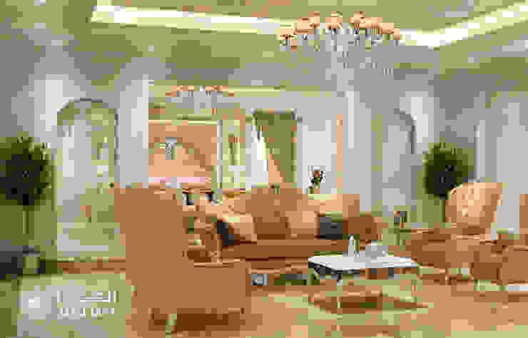 منطقة الجلوس في غرفة النوم في فيلا فاخرة من Algedra Interior Design كلاسيكي