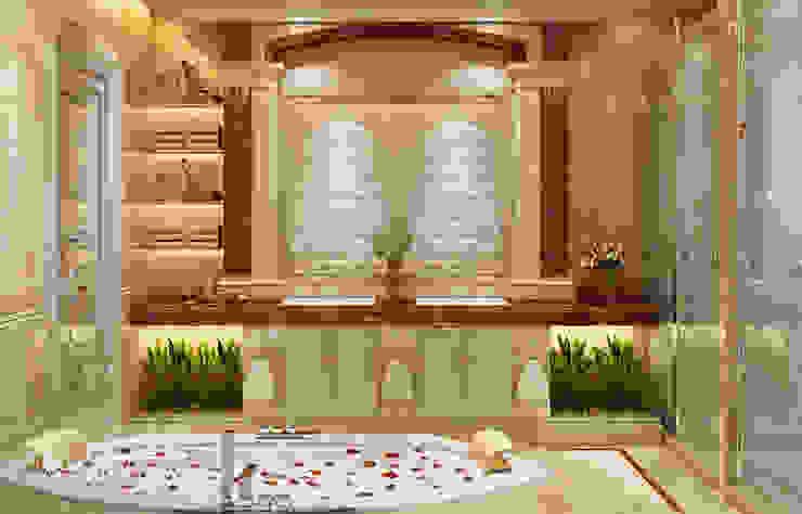 تصميم داخلي لحمام فخم من Algedra Interior Design كلاسيكي