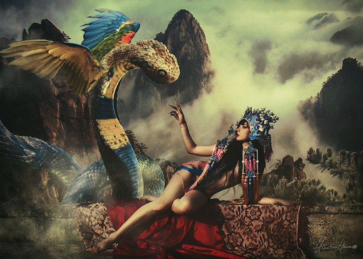 Amaru -Limited Edition Print: eclectic  by Mineheart, Eclectic