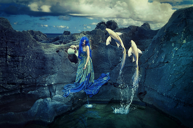 Aquarius -Limited Edition Print: eclectic  by Mineheart, Eclectic