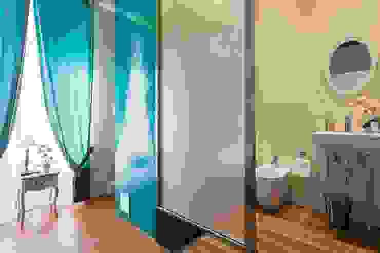 ibedi laboratorio di architettura Rustic style bedroom Bricks Turquoise