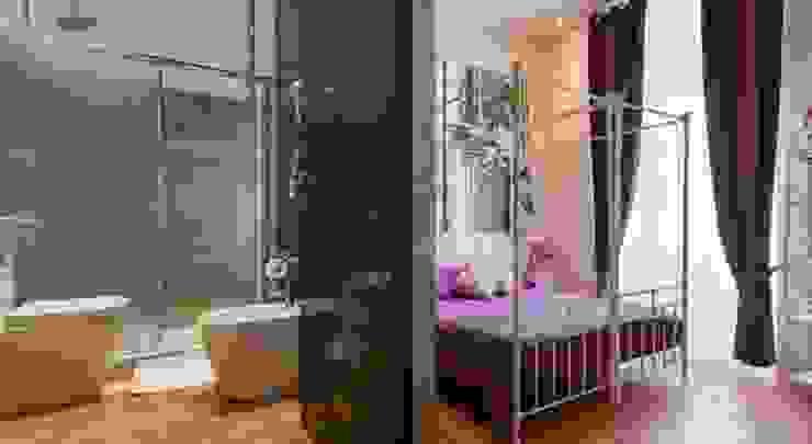ibedi laboratorio di architettura Rustic style bedroom Wood Purple/Violet